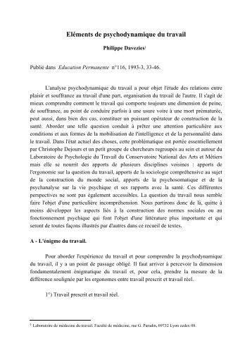 Elements de psychodynamique.pdf - Comprendre pour agir