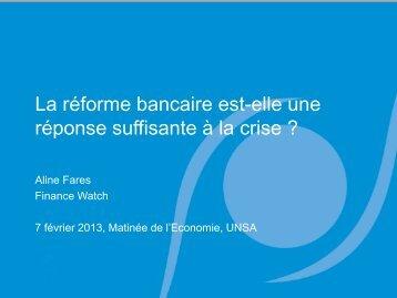 La réforme bancaire est-elle une réponse suffisante à la crise - UNSA