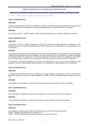 Règles interprétatives de la nomenclature des prestations de santé