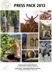 press pack 2013 - Official website for tourism in Champagne-Ardenne