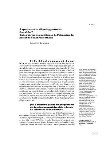 À quoi sert le développement durable ? - Écologie & Politique