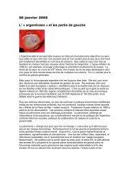 L' « argentinazo » et les partis de gauche