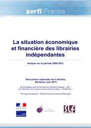 La situation économique et financière des librairies ...