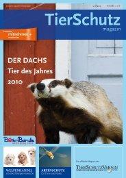 DER DACHS Tier des Jahres 2010 - TierSchutzVerein Gross