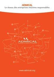 Admical : plaquette de présentation
