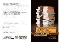 Liberté d'Edition - Agence régionale du livre