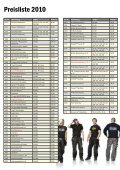 Preisliste 2010 - Snickers Concept Store - Seite 2
