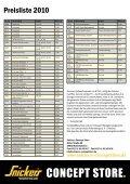 Preisliste 2010 - Snickers Concept Store - Seite 4