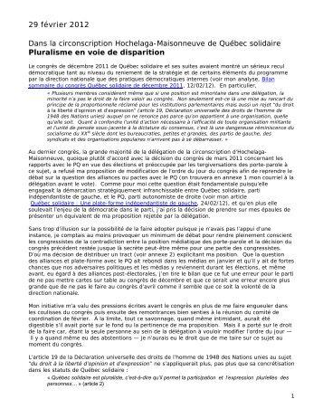 Dans la circonscription Hochelaga-Maisonneuve de Québec solidaire