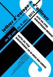 du 30 nov. au 2 déc. 2012 - Agence Régionale du Livre PACA