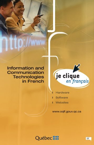 Information and Communication Technologies in French - Office ...