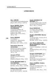 livres reçus Livres reçus - Recherches internationales