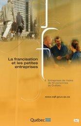 La francisation et les petites entreprises - Office québécois de la ...