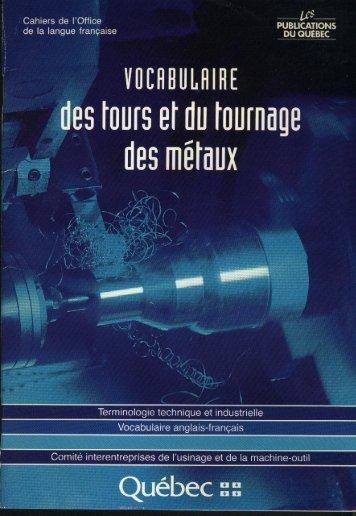 VUEHHIJLHIHE des tours et du tournage - Office québécois de la ...