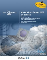 MS Windows Server 2008 en français - Office québécois de la ...