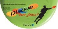 Disque en jeu! - Office québécois de la langue française