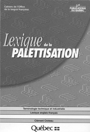 Lexique de la palettisation