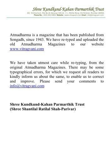 Shree Kundkund-Kahan Parmarthik Trust - Vitragvani