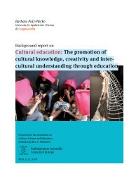 Cultural education: The promotion of cultural knowledge, creativity ...