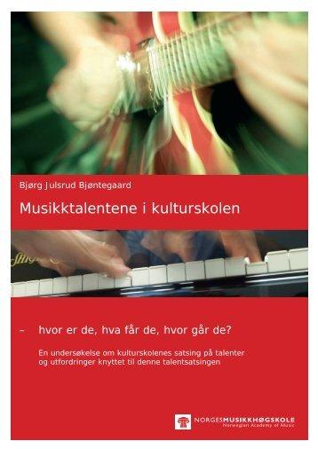 2010 Musikktalentene i kulturskolen - Norsk kulturskoleråd