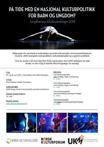 Se invitasjon og program - Norsk kulturskoleråd