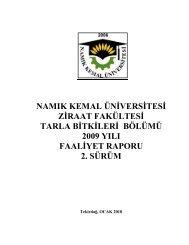 YÜKSEKÖĞRETİM KURULU - Namık Kemal Üniversitesi