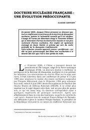 Doctrine nucléaire française - Recherches internationales