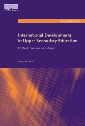 International Developments in Upper Secondary Education