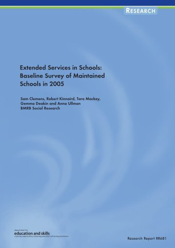 Extended Services in Schools - Communities and Local Government