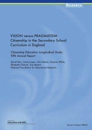 VISION versus PRAGMATISM: Citizenship in the Secondary School ...