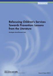 Refocusing Children's Services Towards Prevention - Communities ...