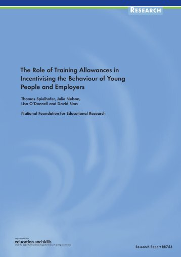 views on training allowances - Communities and Local Government