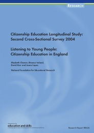 Second Cross-Sectional Survey 2004 Listening to Young People