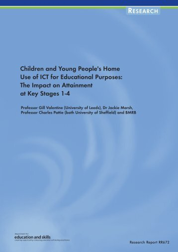 Children and Young People's Home Use of ICT for Educational ...