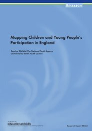 Mapping Children and Young People's Participation in England