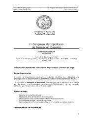 II Congreso Metropolitano de Formación Docente - Universidad de ...