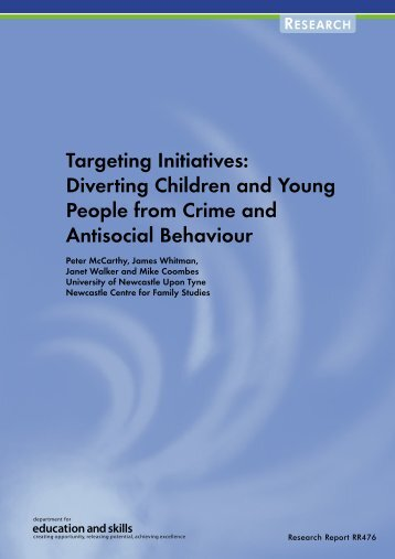 Diverting Children and Young People from Crime and Antisocial ...