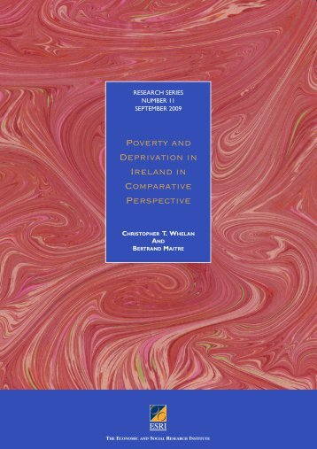 Poverty and Deprivation in Ireland in Comparative Perspective