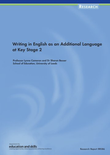 Writing in English as an Additional Language at Key Stage 2
