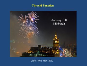 Anthony Toft Edinburgh Thyroid Function