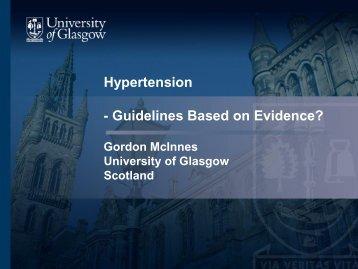 Hypertension - Guidelines Based on Evidence?