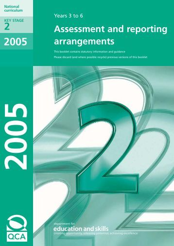 KS2 Assessment and Reporting Arrangements 2005 - Communities ...