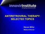 Antiretroviral Therapy: Selected Topics