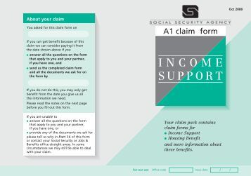 how to make a claim for income support