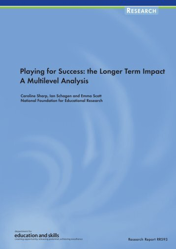the Longer Term Impact A Multilevel Analysis - Communities and ...