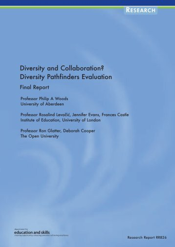 Diversity Pathfinders Evaluation - Communities and Local Government