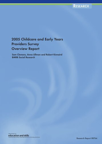 2005 Childcare and Early Years Providers Survey Overview Report