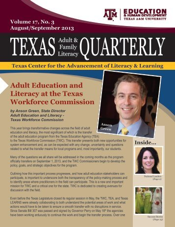 Adult Education and Literacy at the Texas Workforce Commission