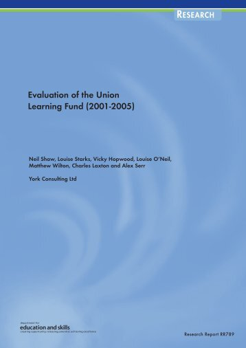 Evaluation of the Union Learning Fund (2001-2005) - Communities ...