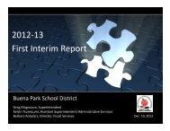 December 10, 2012 - Buena Park School District